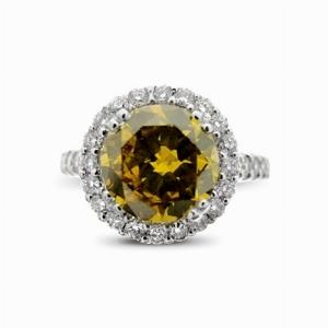 Brilliant Cut Natural Fancy Deep Brownish Orange Diamond Ring 2.40ct GIA